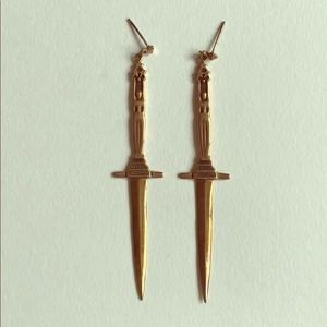 Pamela Love Brass Dagger Earrings